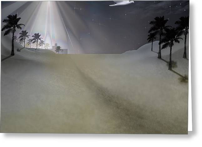 Recently Sold -  - Star Of Bethlehem Greeting Cards - O Little Town Greeting Card by Brian Wallace
