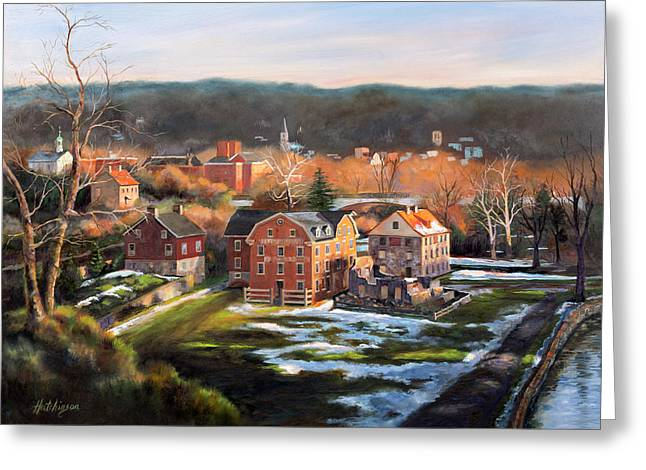 O, Little Town Greeting Card by Diane Hutchinson