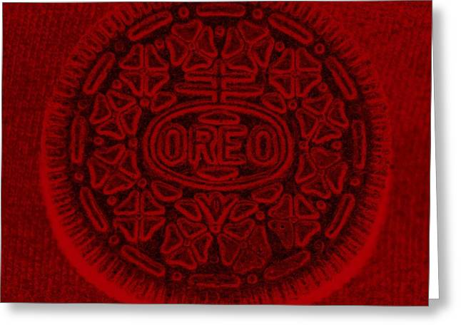 Oreo Greeting Cards - O R E O In Red Greeting Card by Rob Hans