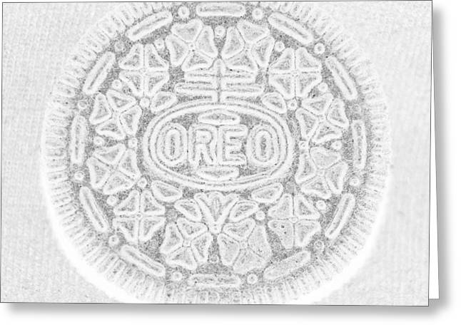 Oreo Greeting Cards - O R E O in WHITE Greeting Card by Rob Hans