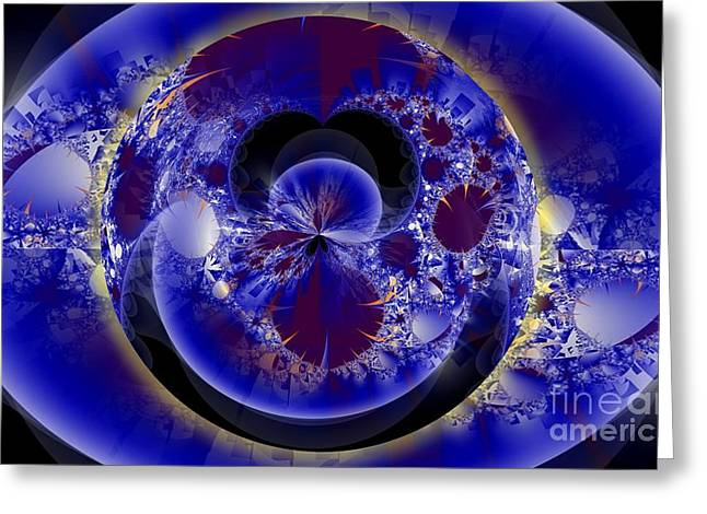 Fractal Orbs Greeting Cards - O Greeting Card by Ron Bissett