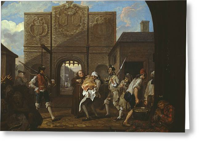 O The Roast Beef Of Old England Greeting Card by William Hogarth