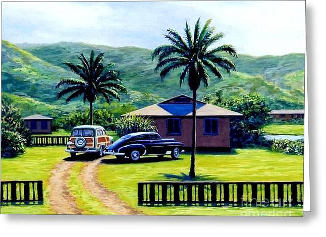 Oahu Afternoon Greeting Card by Frank Dalton