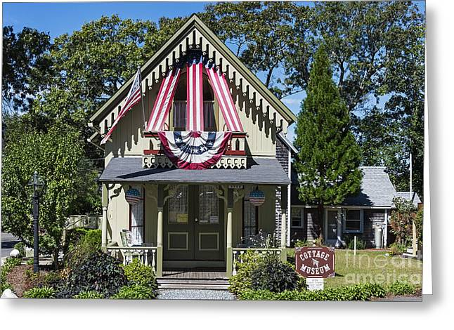 Usa Photographs Greeting Cards - Oak Bluffs Cottage Greeting Card by John Greim