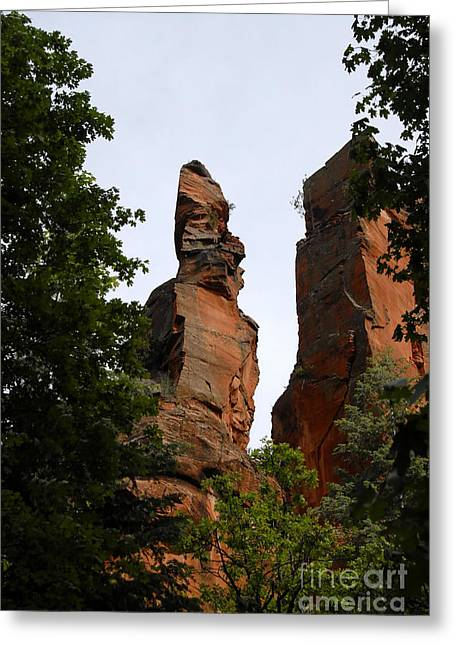 Monolith Greeting Cards - Oak Creek Canyon Greeting Card by David Lee Thompson