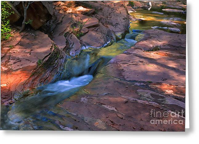 Best Sellers -  - Oak Creek Greeting Cards - Oak Creek Canyon Splendor Greeting Card by Sandra Bronstein