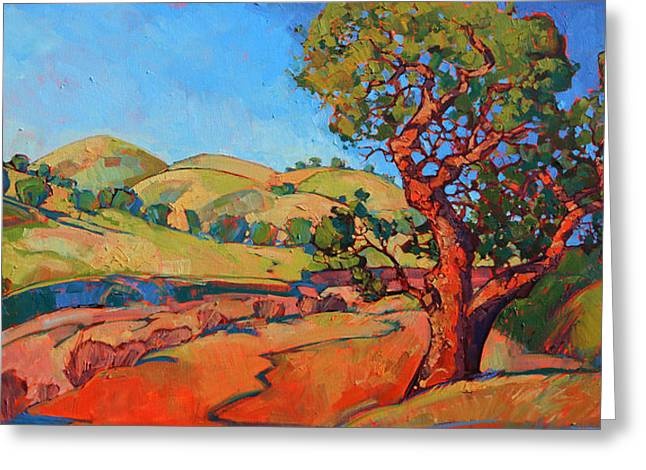 This Is It. Greeting Cards - Oak in the Wash Greeting Card by Erin Hanson