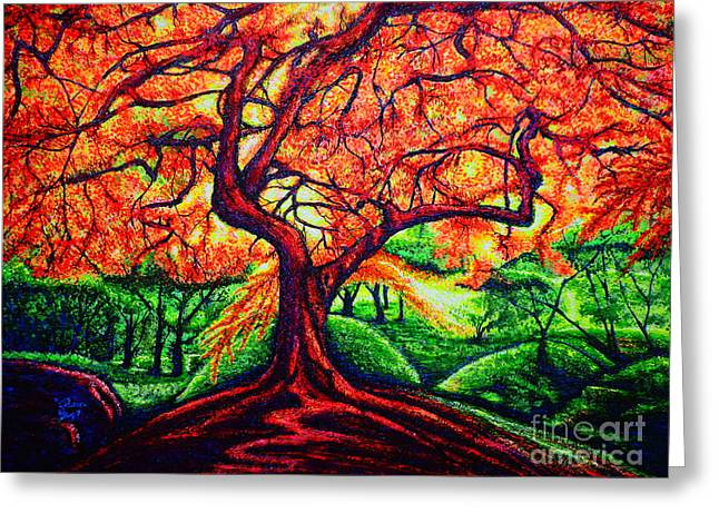 Fantasy Tree Greeting Cards - Oak Greeting Card by Viktor Lazarev