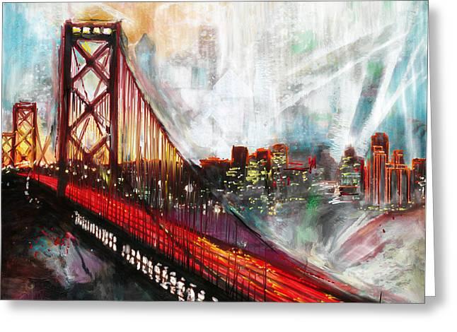Oakland Bay Bridge 223 1  Greeting Card by Mawra Tahreem