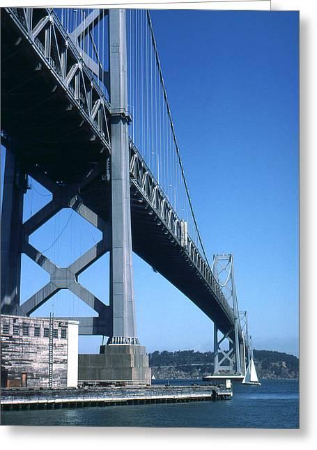 America Greeting Cards - Oakland Bay Bridge - San Francisco Photo Greeting Card by Peter Fine Art Gallery  - Paintings Photos Digital Art