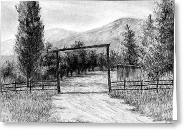 Oakley Ranch Entrance Greeting Card by David King