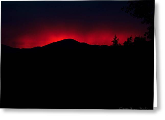 Spacial Greeting Cards - Oakrun Sunset 06 09 15 Greeting Card by Joyce Dickens