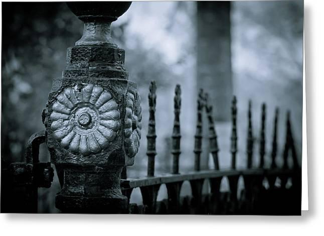 Oakwood Cemetery Greeting Card by Linda Unger