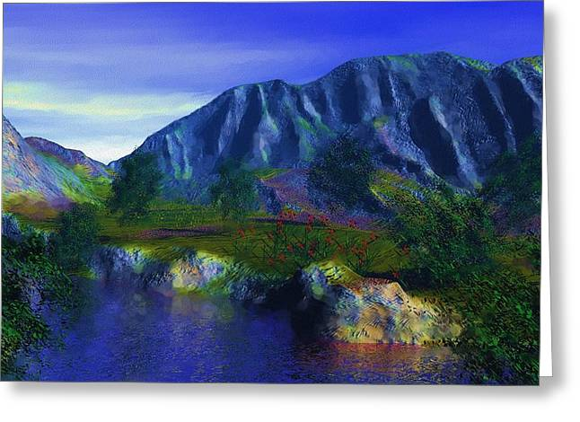 Oasis Greeting Card by David Lane