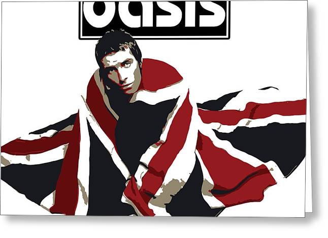 Rock N Roll Greeting Cards - Oasis No.01 Greeting Card by Caio Caldas