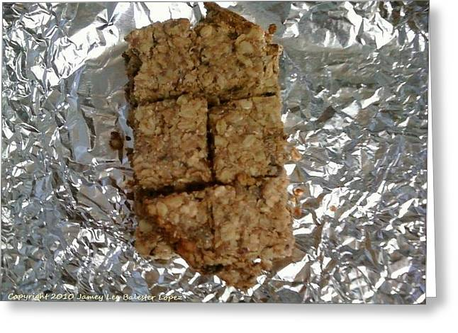 Oat Bars Greeting Card by Jamey Balester