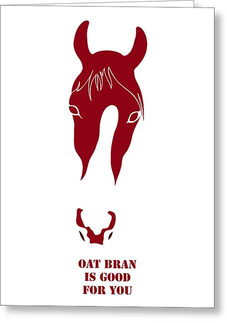 Contemporary Equine Greeting Cards - Oat Bran Is Good For You Greeting Card by Frank Tschakert