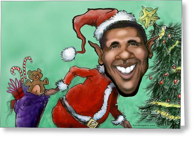 Obama Christmas Greeting Card by Kevin Middleton