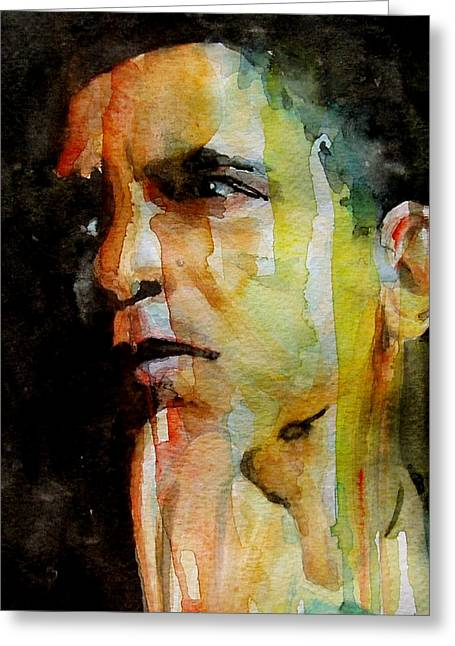 Obama Greeting Cards - Obama Greeting Card by Paul Lovering