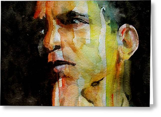 Obama Greeting Card by Paul Lovering