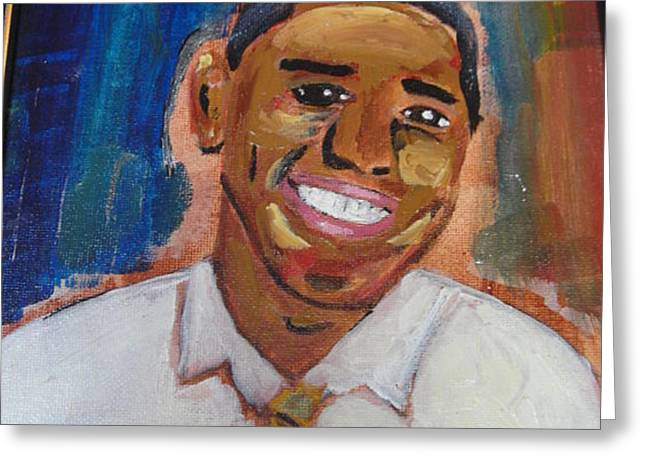 Obama Yes We Did Greeting Card by R Bruce Macdonald
