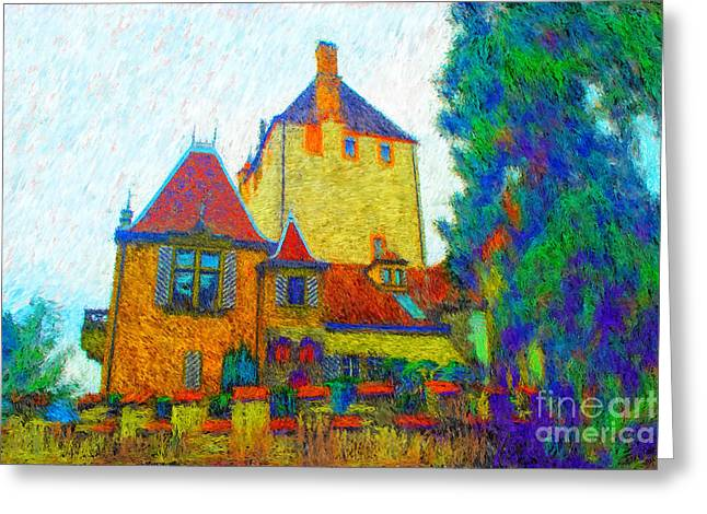 Chateau Greeting Cards - Oberhofen Greeting Card by Gerhardt Isringhaus