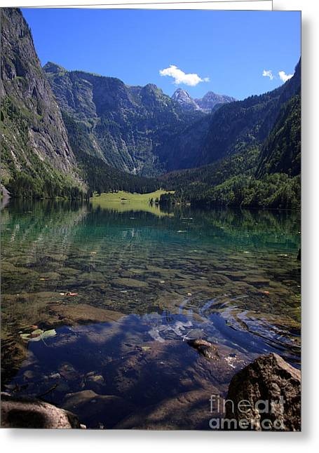 Alps Greeting Cards - Obersee Greeting Card by Nailia Schwarz