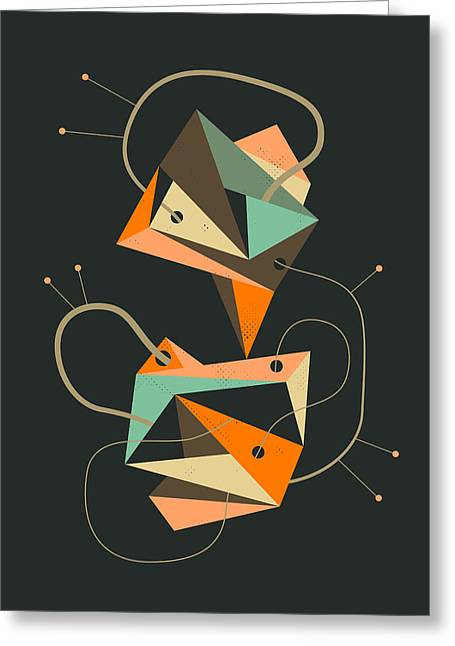 Abstract Prints For Sale Greeting Cards - Objectified 19 Greeting Card by Jazzberry Blue