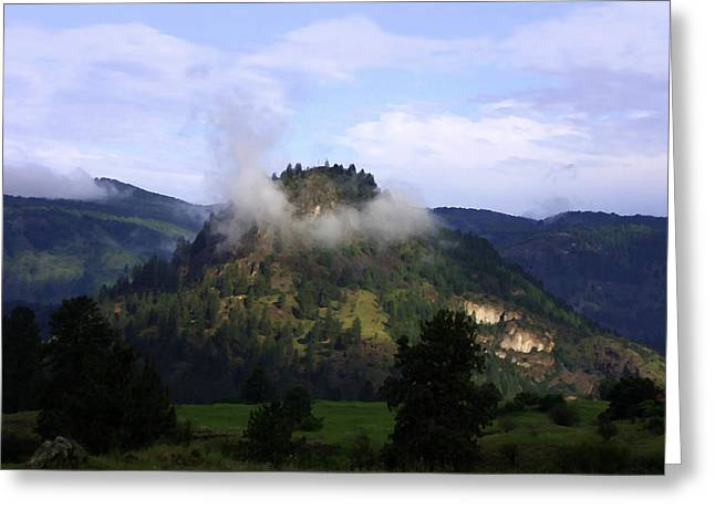 Southern Province Greeting Cards - Observation Mountain Grand Forks BC Greeting Card by Barbara St Jean