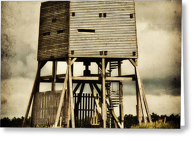 Observation tower Greeting Card by Angela Doelling AD DESIGN Photo and PhotoArt