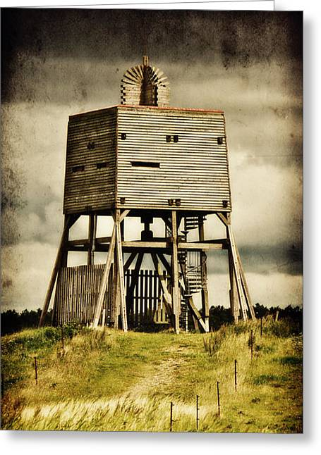 National Mixed Media Greeting Cards - Observation tower Greeting Card by Angela Doelling AD DESIGN Photo and PhotoArt