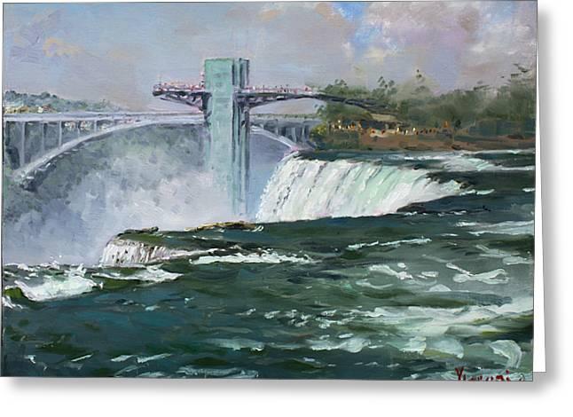 Observation Tower In Niagara Falls Greeting Card by Ylli Haruni