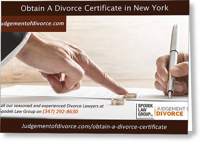 Obtain A Divorce Certificate  Greeting Card by Edward Williams