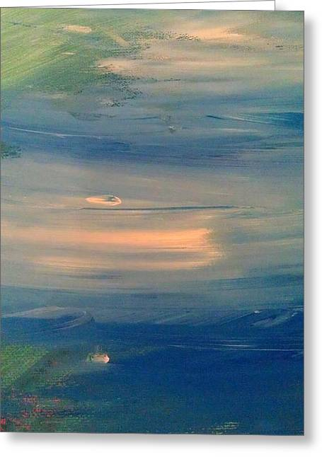 Ocean Abstract Greeting Card by Brad Scott