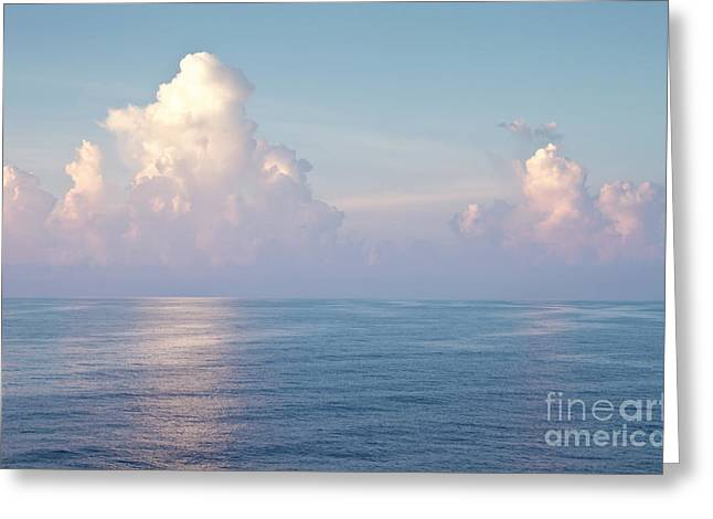 Tropical Oceans Greeting Cards - Ocean and sky Greeting Card by Blink Images