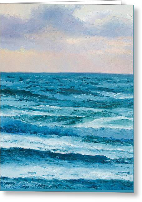 Beach Cottage Style Greeting Cards - Ocean Art 2 Greeting Card by Jan Matson