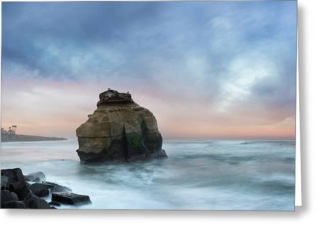 Ocean Beach Bird Rock Greeting Card by William Dunigan