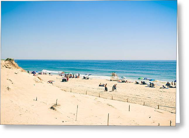 Panoramic Ocean Greeting Cards - Ocean Beach Greeting Card by Colleen Kammerer