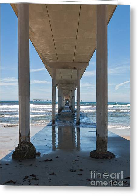California Ocean Photography Greeting Cards - Ocean Beach Pier Greeting Card by Ana V  Ramirez