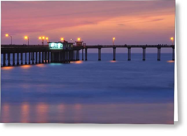 Ocean Beach Pier Greeting Card by Kelly Wade
