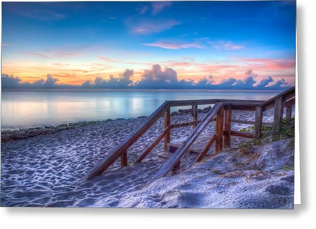 Ocean Art. Beach Decor Greeting Cards - Ocean Blue Greeting Card by Debra and Dave Vanderlaan