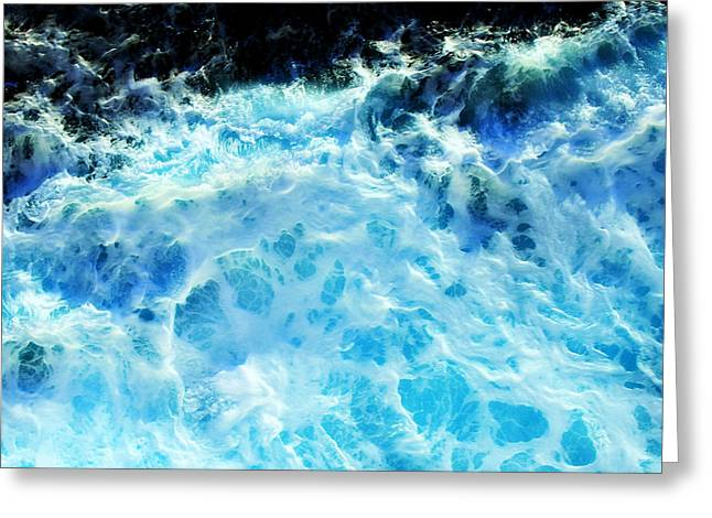 Best Sellers -  - Best Ocean Photography Greeting Cards - Ocean Blue Greeting Card by Perry Webster