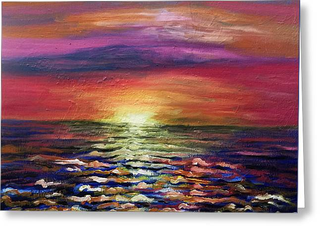 Ocean. Reflection Greeting Cards - Ocean Blue Two Greeting Card by Deb Wolf