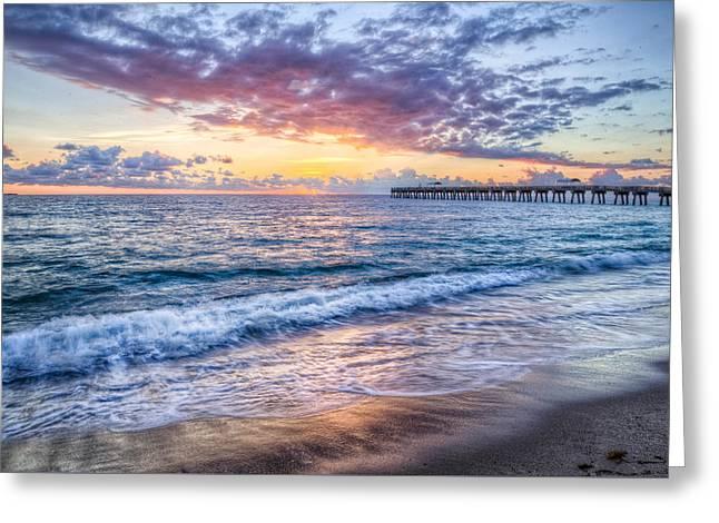On The Beach Greeting Cards - Ocean Breezes Greeting Card by Debra and Dave Vanderlaan