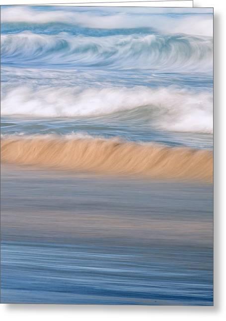 Ocean Caress Greeting Card by Az Jackson