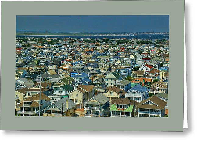 Ocean Panorama Greeting Cards - Ocean City New Jersey 2 Greeting Card by Allen Beatty