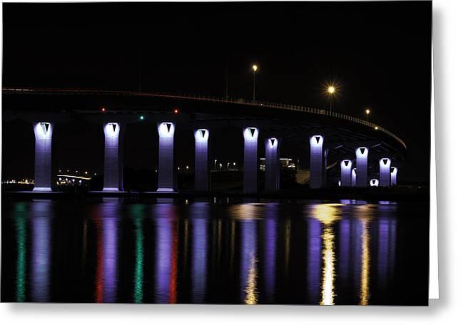 Usa Photographs Greeting Cards - Ocean City - 9th Street Bridge Greeting Card by Kristia Adams