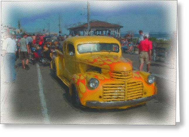 Kevin Sherf Greeting Cards - Ocean City Hot Rod Greeting Card by Kevin  Sherf