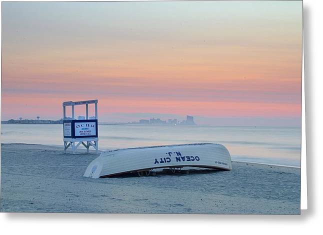 Bill Cannon Photography Greeting Cards - Ocean City New Jersey Before Sunrise Greeting Card by Bill Cannon