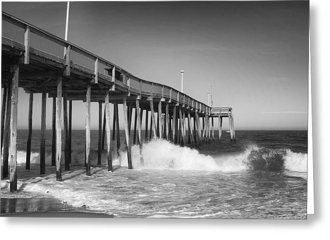 Ocean City Pier Greeting Card by Stephanie McDowell